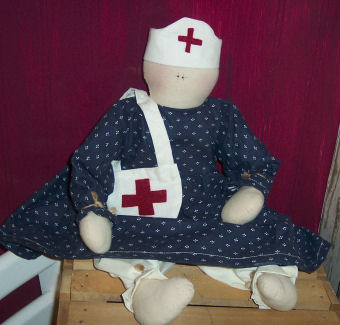 Here is my civil war nurse doll which I designed after watching a civil war reinactment.