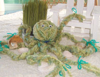 Learn how to make this adorable sea creature, a yarn octopus.