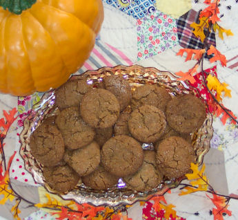 Recipe for soft and chewy old fashioned molasses sugar cookies for fall baking.