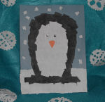 Torn Paper Penguin Collage Arts and Crafts Project for Kids
