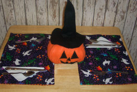 Easy to sew reversible placemats.
