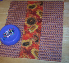 Easy to sew reversible Thanksgiving placemat.