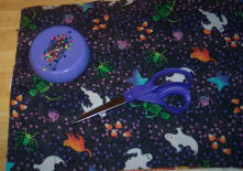 The Halloween side of the placemat is just one piece of fabric.