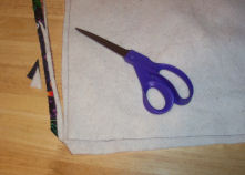 Always trim seams and clip corners when making projects.