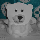 Polar bear arts and crafts project for kids.