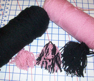 Yarn pompoms are quick and easy to make.