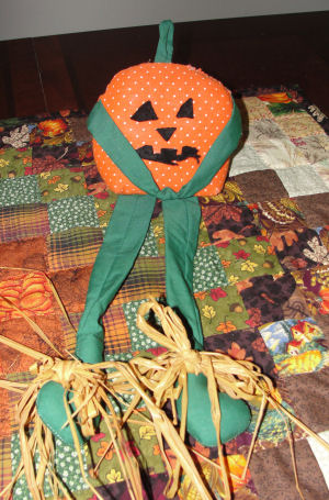 Free sewing project from Love to Sew, How to make a pumpkin doll.