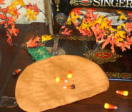 Free directions on how to sew a pumpkin hot pad.