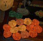 These pumpkin doilies add a rustic, shabby-chic feel to your autumn decor.