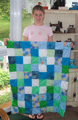 I love the colors in this handmade quilt!!!