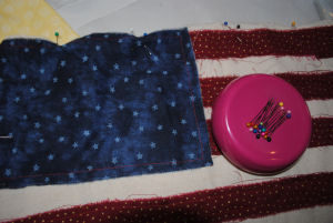 You can make this awesome ragged american flag pillow in less than an hour.