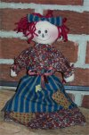 Here's an easy learn to sew doll kit where you can make your very first little raggedy doll.