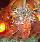How to sew a raggedy pumpkin for fall decorating.