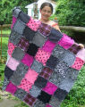 Raggedy quilts are SEW easy to make.