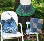Project ideas to recycle your old jeans into new creations.