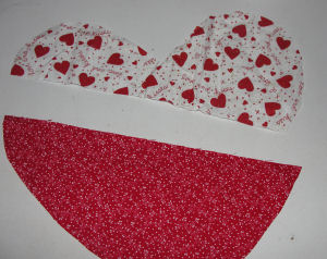 Easy to sew Valentine's day craft project.