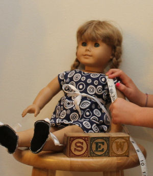 How to Sew a dress and flip flops for your American girl doll.