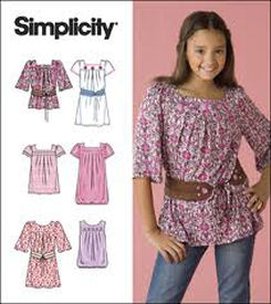 Love to Sew Studio pattern review for Simplicity 2689, little girls top or dress.