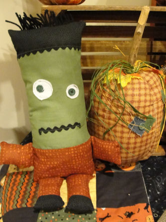 "Easy to sew ""Son of Frankenstein"" Halloween doll."