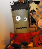 "How to make an easy to sew ""Son of Frankenstein"" Halloween doll."