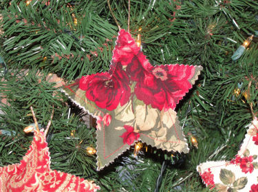 How to make Christmas star fabric ornaments.