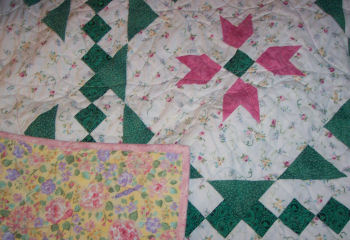 Glenda made this beautiful patchwork quilt.