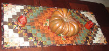 "How to sew an ""Around the World"" Thanksgiving table runner."