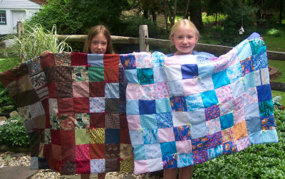 "Twins make very different ""My 1st Quilts!"""
