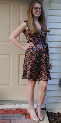 "Here is Zoe modeling ""The Opera Dress"" she made using our studio's favorite pattern/sewing book, Chic & Simple Sewing."