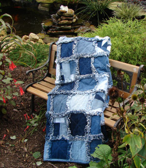 Learn To Make A Quick And Easy Rag Quilt Free Pattern For