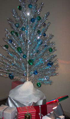 Aluminum Christmas Tree With Color Wheel
